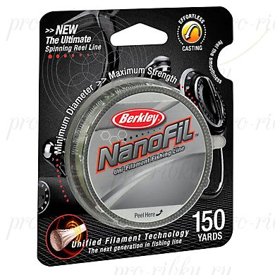 Леска Berkley NanoFil Lo-Vis Green 270m 0,25_ 0.2463mm 17.027kg
