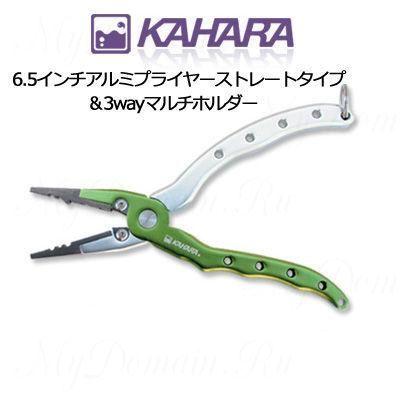 Плоскогубцы КAHARA 6,5 inch. c усиленными губками и резаком, green/silver (KHR-Plr-6.5-STR-GRN-SLV)