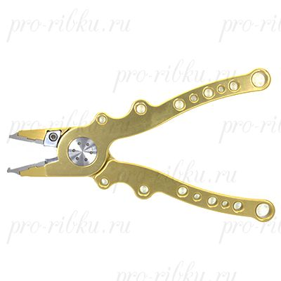 Плоскогубцы 19 см. c кольцезаводными стальными губками и резаком, алюминий (ALP-SP 7.5) Золотистые