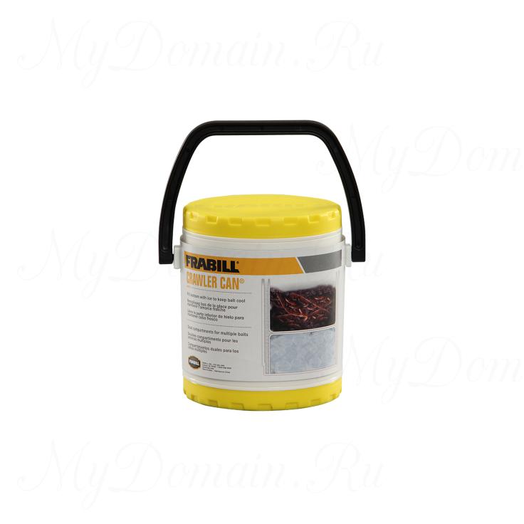 Контейнер-термос для живых приманок Frabill Crawler Can, с емкостью для льда, 19см*17см*16см (#4507)
