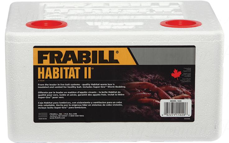 Контейнер Frabill Habitat II длительного хранения живых приманок до 8 порций с Super-Gro беддингом (#1020)