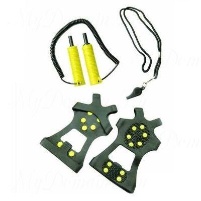 Спасательный набор FRABILL SAFETY KIT, антискользящие насадки на обувь, спасалки, свисток (#6580)