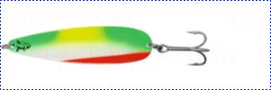 Блесна троллинговая колеблющаяся Rhino Trolling Spoons III модель Xtra MAG 115 мм, 27 гр., расцветка: rugen