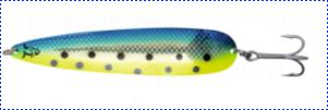 Блесна троллинговая колеблющаяся Rhino Trolling Spoons III модель Xtra MAG 115 мм, 27 гр., расцветка: gold swedish flag