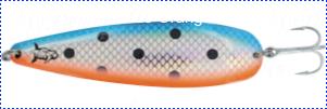 Блесна троллинговая колеблющаяся Rhino Trolling Spoons III модель Xtra MAG 115 мм, 27 гр., расцветка: natural copper blue dolphin