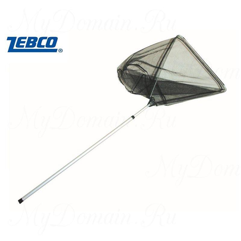 Подсак Zebco для рыбы Tele Landing Net 6mm нейлоновый, быстросохнущая сетка ПВХ телескопическая ручка длина 2,4 м.,размер 50х50 см;