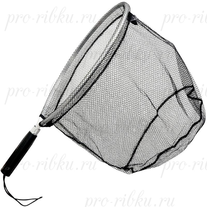 Подсак Zebco для рыбы Trout Gripper Net, нейлоновый, быстросохнущая сетка ПВХ DX, размер 30х37х30 см, длина ручки 80 cм. ;
