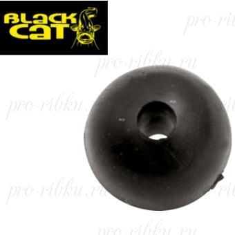 Стопор круглый Black Cat Rubber Shock Bead (10mm, 10шт)