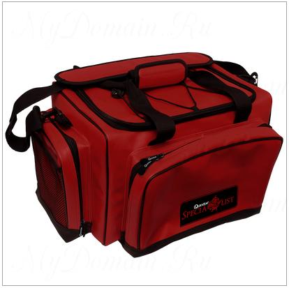 Сумка рыболовная Quantum Specialist Bag , с 5-ю пластиковыми коробками,размер сумки 42cm x 30cm x 27cm.
