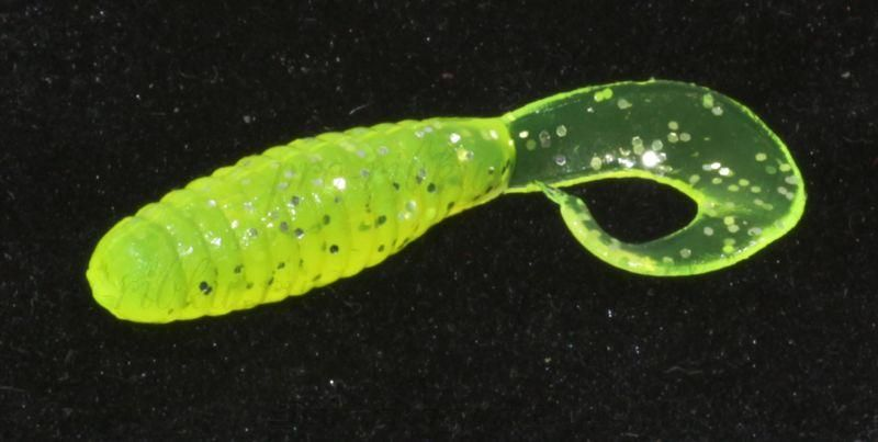 """Приманка съедобная ALLVEGA """"Flutter Tail Grub"""" 8см 3,6г (7шт.) цвет chartreuse"""