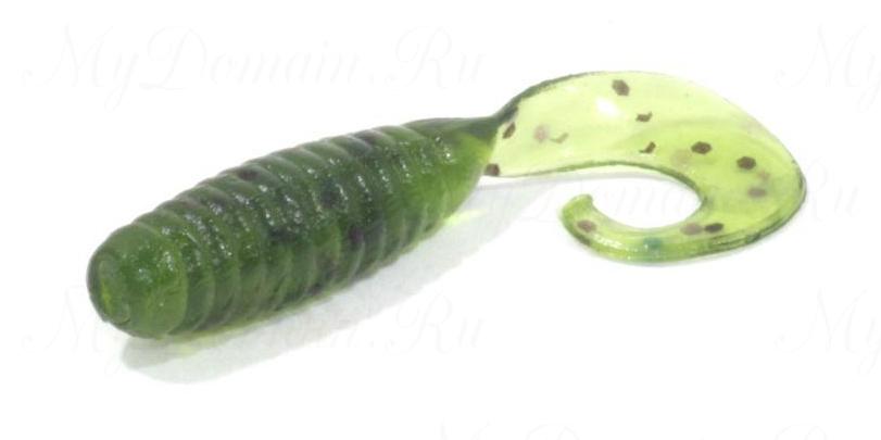 """Приманка съедобная ALLVEGA """"Flutter Tail Grub"""" 8см 3,6г (7шт.) цвет watermelon seed"""