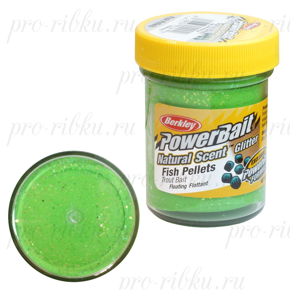 Паста Berkley 50g FISH PELLET - SPRING GREEN