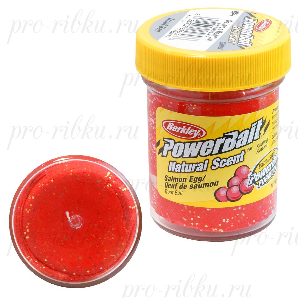 Паста Berkley 50g SALMON EGG RED GLITTER