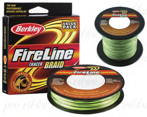 Плетеный шнур Berkley Fireline Tracer Braid 110m 0,30mm 36.3kg
