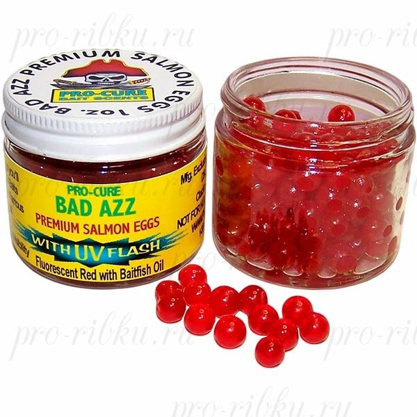 Аттрактант-икринки Bad Azz Salmon Eggs 1oz. (Shrimp/Krill/Anise Oil)