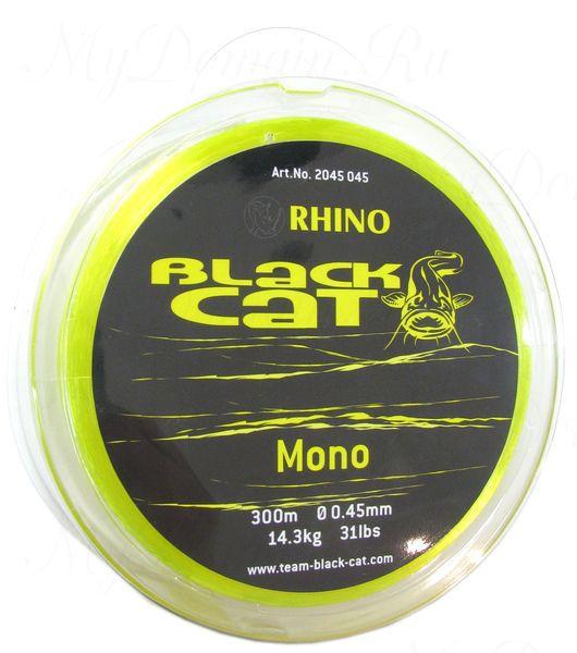 Леска Монофильная Black Cat Mono, цвет Yellow, 0.45 мм (300 м)
