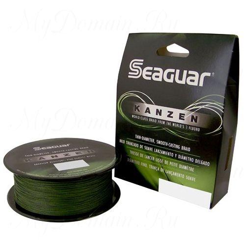 Шнур плетеный Seaguar Kanzen зелёный 0,165 мм; 15 lb/6,8 кг; 300 ярдов/274 м.