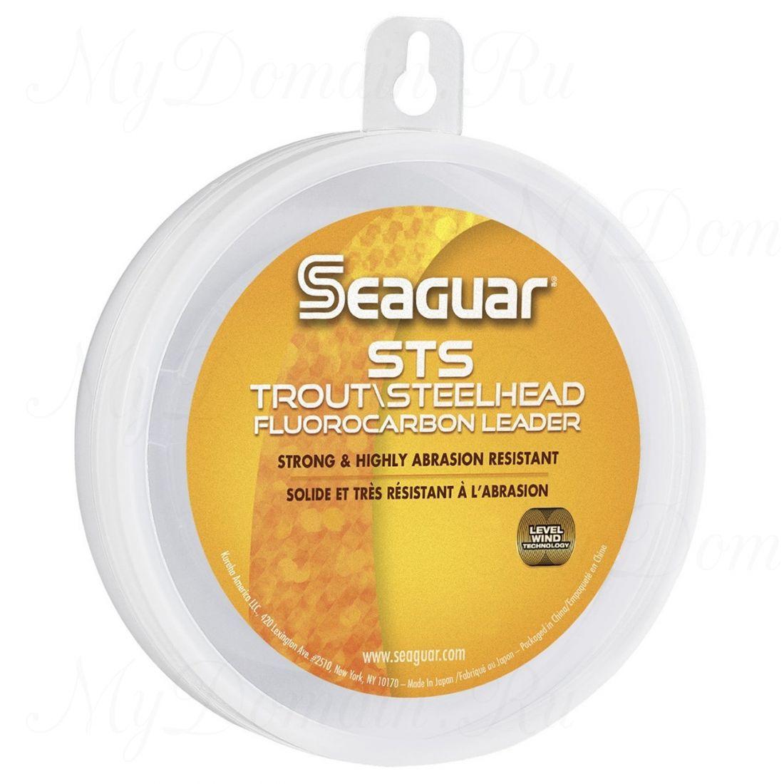 Поводковый материал из флюорокарбона Seaguar STS Salmon & Trout/Steelhead 0,165 мм; 4 lb/1,8 кг; 100 ярдов /91 м.