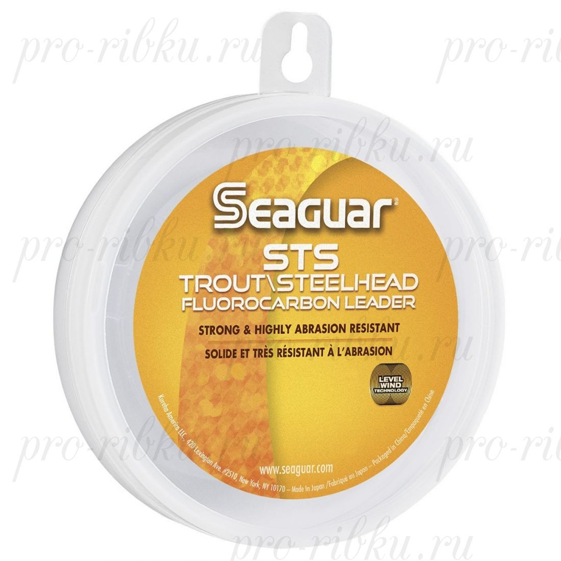 Поводковый материал из флюорокарбона Seaguar STS Salmon & Trout/Steelhead 0,260 мм 10 lb/4,5 кг; 100 ярдов/91 м.