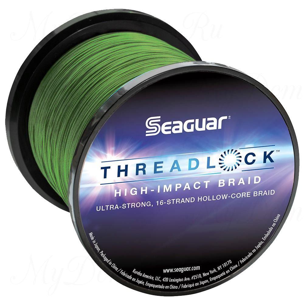 Шнур плетеный Seaguar Threadlock зеленый 0,370 м; 50 lb/22,7 кг; 600 ярдов/546 м.
