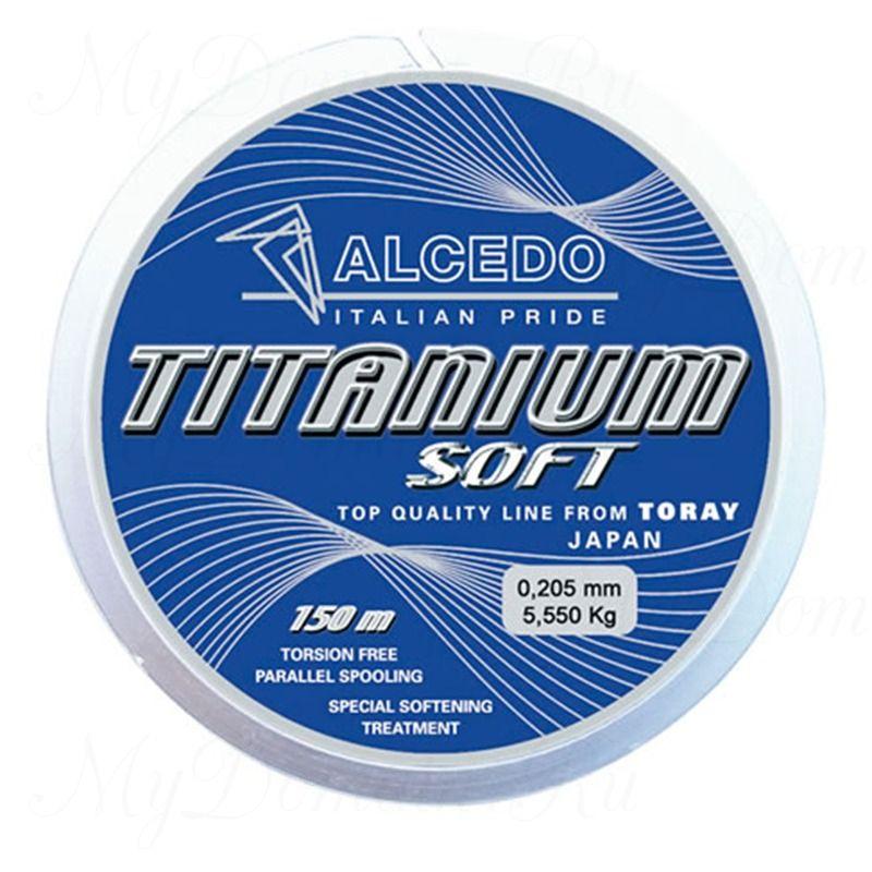 Леска монофильная Alcedo Titanium Soft 0,400 мм; 21,8 кг; 150 м.
