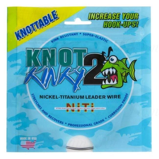 "Титановый стрейч Knot2Kinky Ni-Ti Leader Wire 1х7 100 ft 12lb (5.44 кг), 0.111"", 30.48 м"