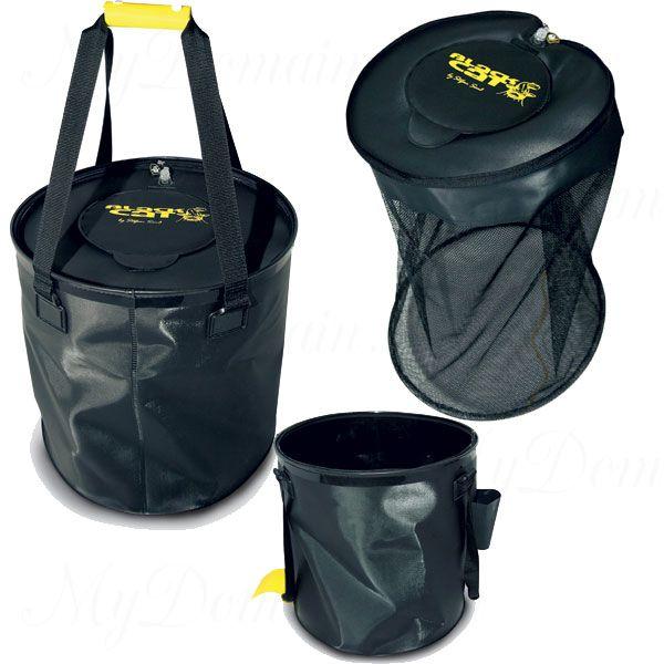 Ведро с крышкой Black Cat Live Bait Bag для живца, с карманом для аэратора, внутр. сеткой, диаметр 50 см., глубина 40 см.