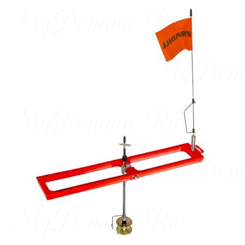 Жерлица Frabill Arctic Fire Real Tip-Up Orange оранжевая, прямоугольная, складная, неоснащенная