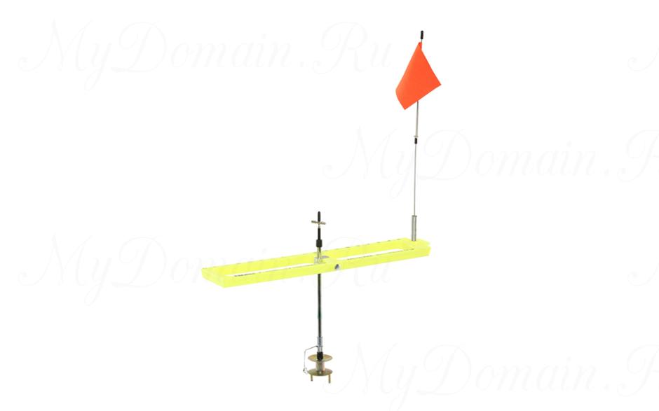 Жерлица Frabill Arctic Fire Tip-Up желтая, прямоугольная, складная, неоснащенная