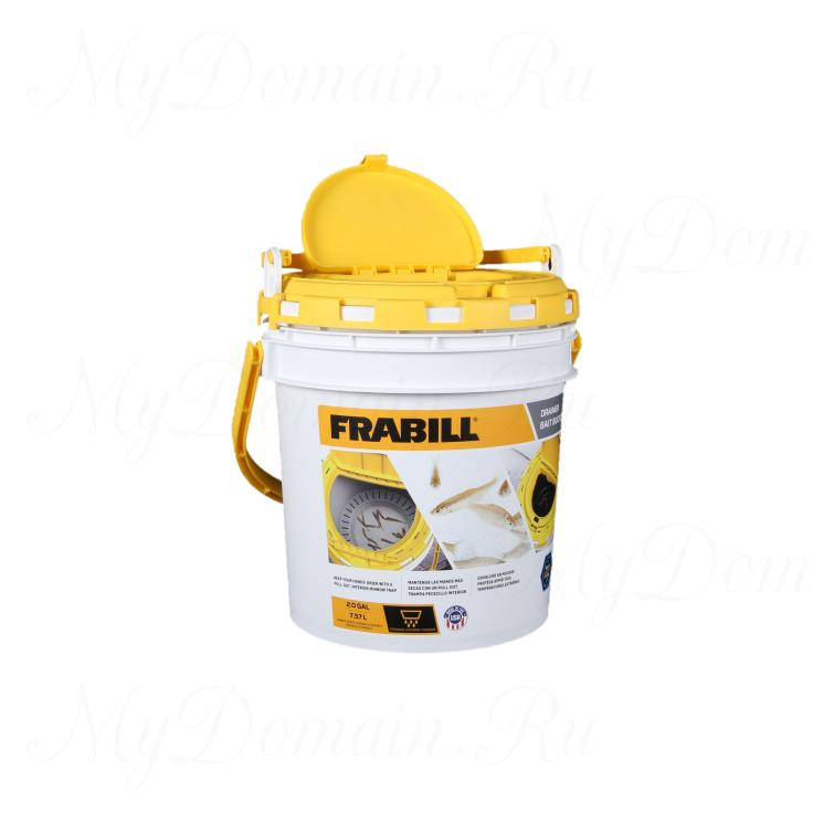 Ведро для живца Frabill Drainer bait bucket, с местом для аэратора в крышке, емкость 2 gal./7.6 лит. (#4800)