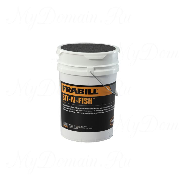 Ведро для живца и червей Frabill Sit-N-Fish insulated bucket c сидушкой, емкость 6Gal/23 лит.(#1600)