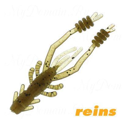 """Приманка рак Reins Ring Shrimp 4"""", в уп. 8шт.#002 Green Pumpkin"""