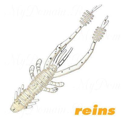 """Приманка рак Reins Ring Shrimp 4"""", в уп. 8шт.#318 Clear Pearl Silver"""