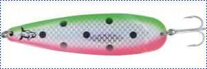 Блесна троллинговая колеблющаяся Rhino Trolling Spoons II модель MAG 115 мм, 16 гр., расцветка: fluo watermelon