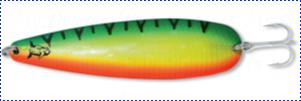 Блесна троллинговая колеблющаяся Rhino Trolling Spoons I модель Xtra MAG 115 мм, 27 гр., расцветка: firetiger