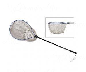 Подсак KAHARA Rubber Landing Net deep type, 60x60x60 см, рук. 76 см., черная резина.