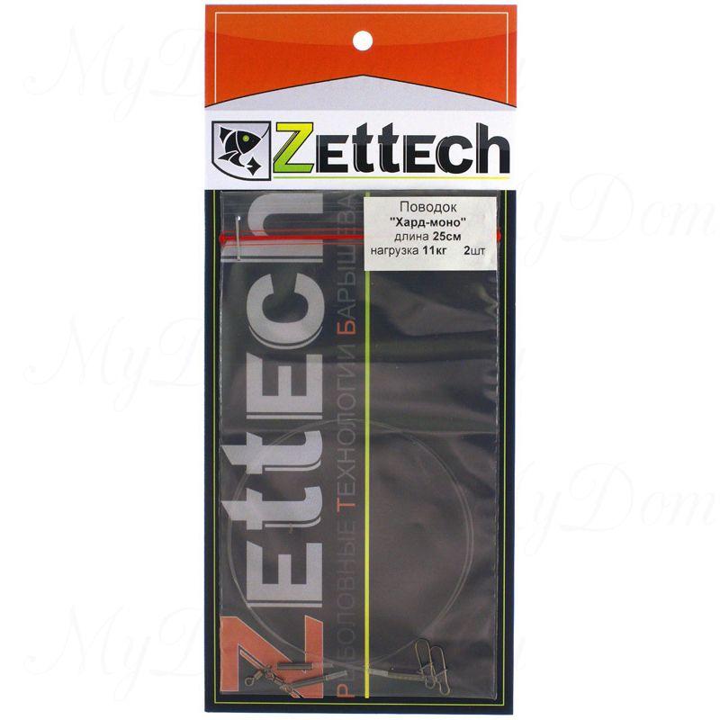 "Поводок ZETTECH, материал ""HardMONO""до 25 кг; 30см; в упаковке 2 шт (Zttch-P-HM-25kg-30sm-2pcs)"