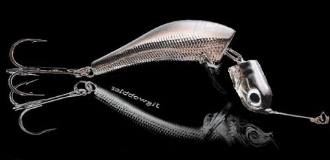 Джигвоблер Wake Jigwobbler 65, 6.5 см, 18 гр, Black Silver