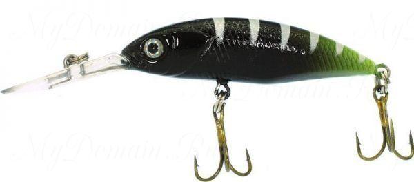 Воблер Wake Jive 50F 5 см, 5гр. плавающий №530 Neon Black Perch