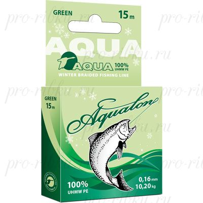 Плетеный шнур AQUA Aqualon Dark-Green 15m d=0,08mm