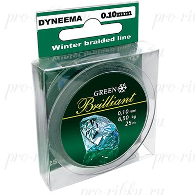 Плетеный шнур AQUA Green Brilliant 25m d=0,18mm