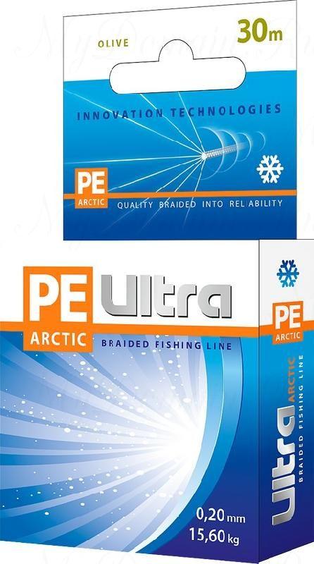 Плетеный шнур AQUA PE ULTRA Arctic 30m 0.10mm, olive