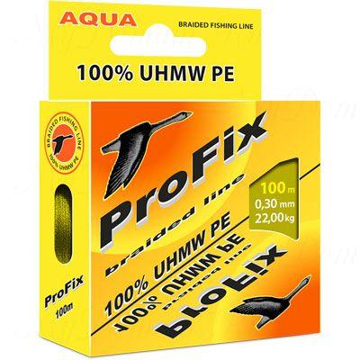 Плетеный шнур AQUA PROFIX 100m olive, d=0,14mm