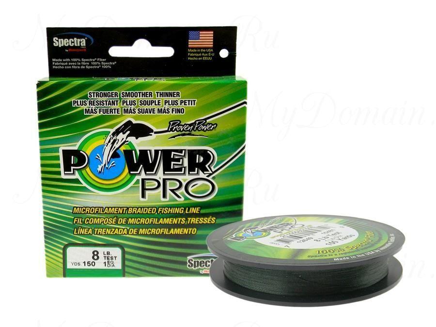 Плетеный шнур Power Pro 135m Moss Green d=0,43mm