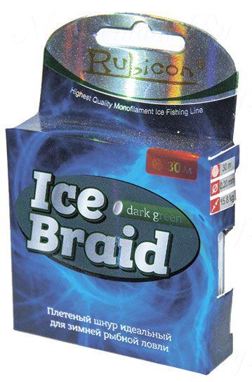 Зимняя плетеная леска RUBICON Ice Braid 30m olive, d=0,16mm