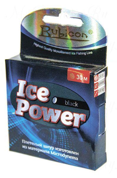 Плетеный шнур RUBICON Ice Power 30m black, d=0,10mm