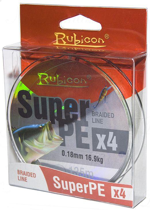 Леска плетеная RUBICON Super PE 4x 135m black, d=0,35mm