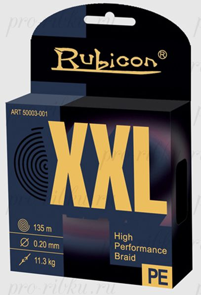 Плетеный шнур RUBICON XXL 135m yellow, d=0,18mm