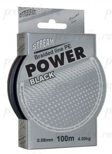 Плетеный шнур STREAM Power Black 100m d=0,08 mm
