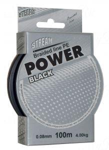 Плетеный шнур STREAM Power Black 100m d=0,25 mm